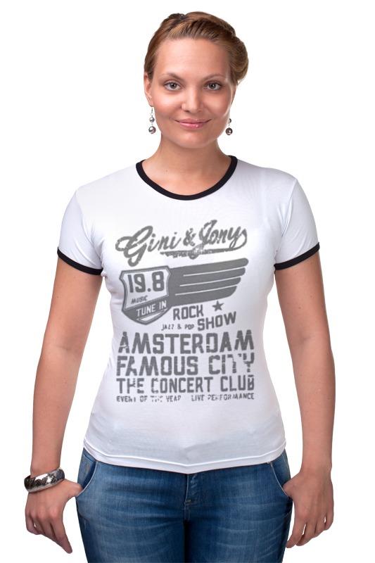 Футболка Рингер Printio Gini & jony boy amsterdam rock show футболка lin show 367
