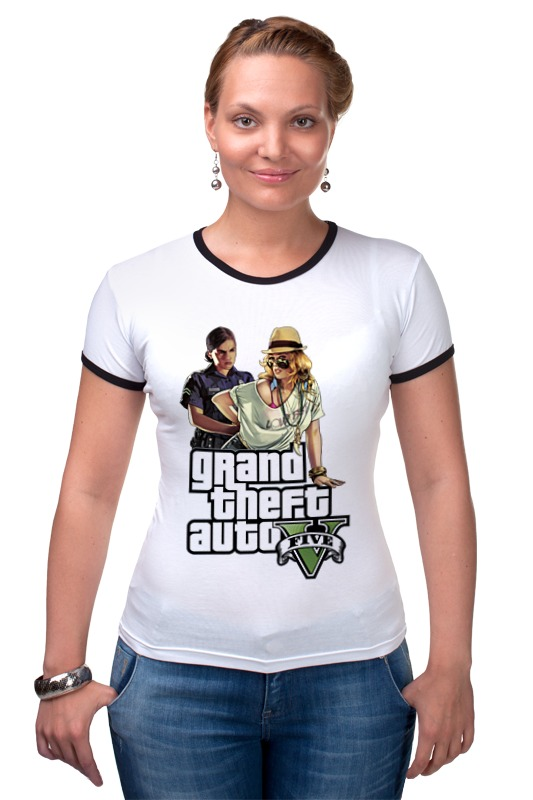 Футболка Рингер Printio Gta v girls сумка printio gta 5 dog