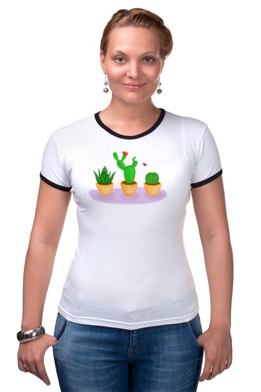 Футболка Рингер Printio Кактусы д в семенов кактусы