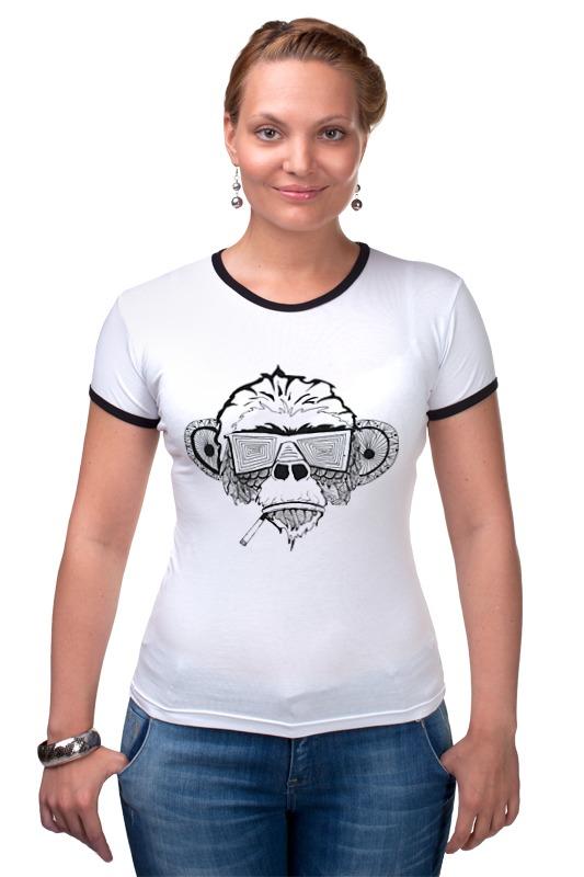 Футболка Рингер Printio Обезьяна футболка рингер printio королева обезьяна