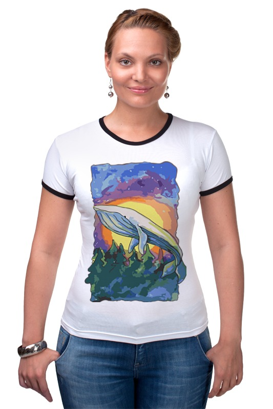 Футболка Рингер Printio Волшебный кит футболка wearcraft premium printio волшебный кит