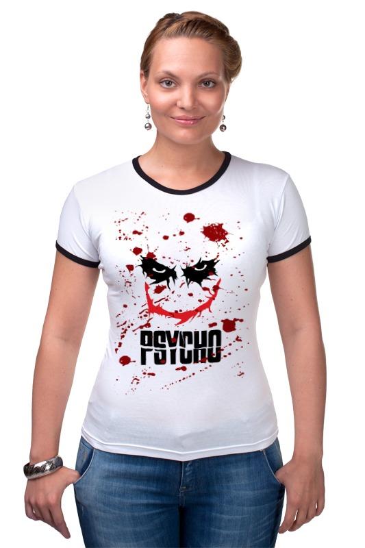 Футболка Рингер Printio Джокер (psycho) цена 2017