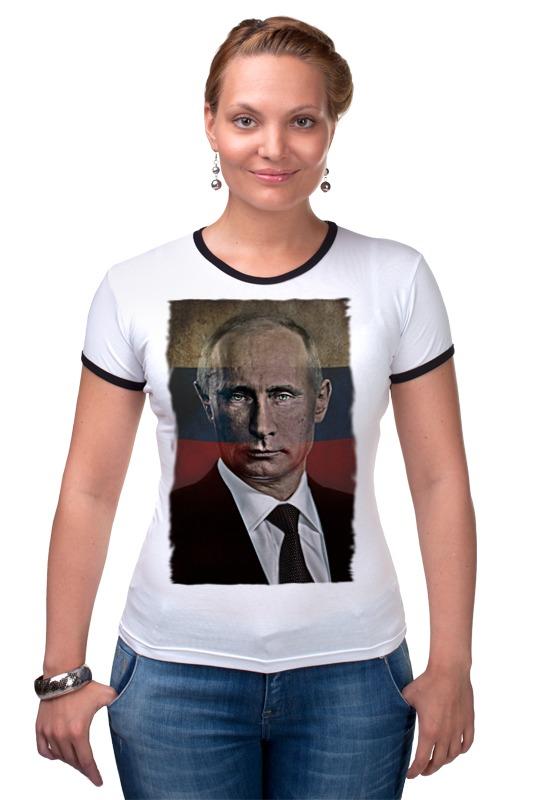 Футболка Рингер Printio Putin