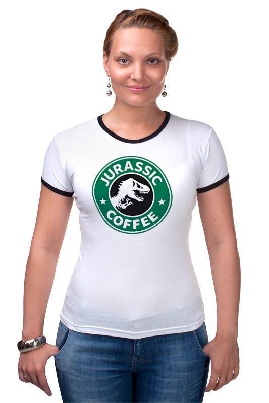 Футболка Рингер Printio Динозавр (парк юрского периода) футболка рингер printio парк юрского периода