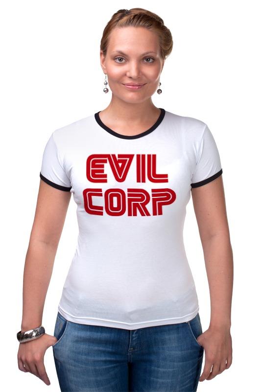 Футболка Рингер Printio Evil corp