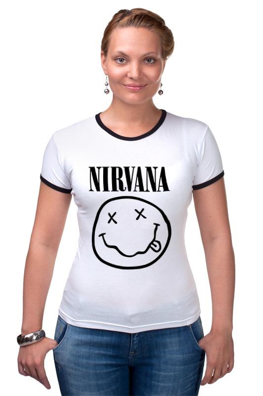 Футболка Рингер Printio Nirvana (нирвана)