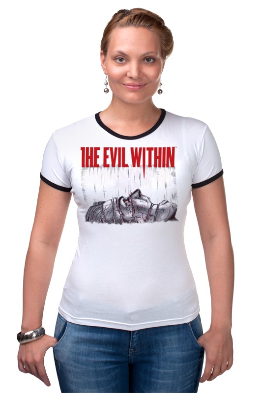 Футболка Рингер Printio The evil within