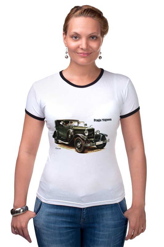 Футболка Рингер Printio Ретроавтомобили чартер для всех