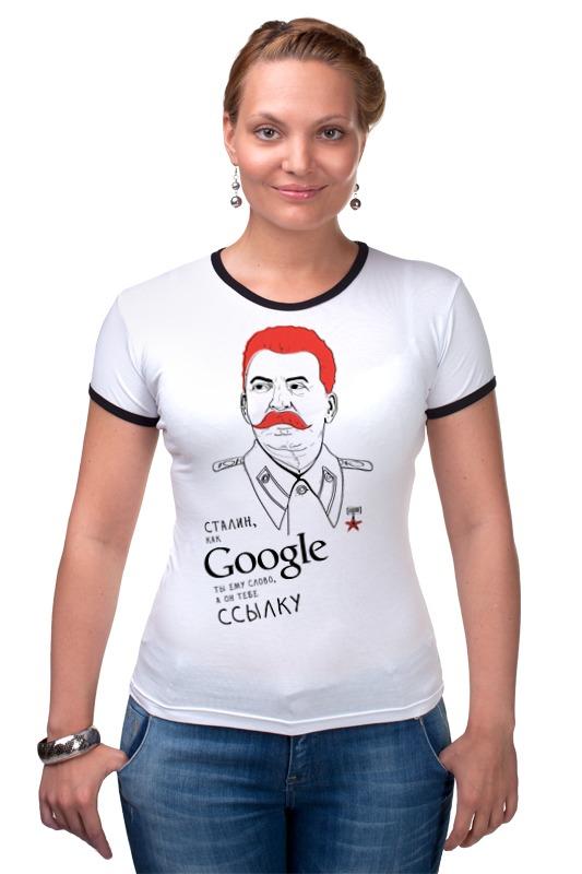 Футболка Рингер Printio Сталин футболка рингер printio война никогда не меняется