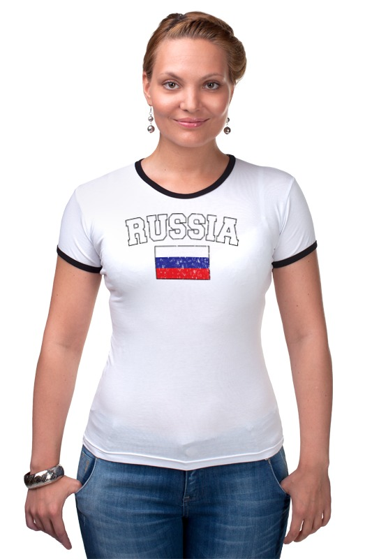 Футболка Рингер Printio Флаг - россия футболка классическая printio россия флаг герб 3