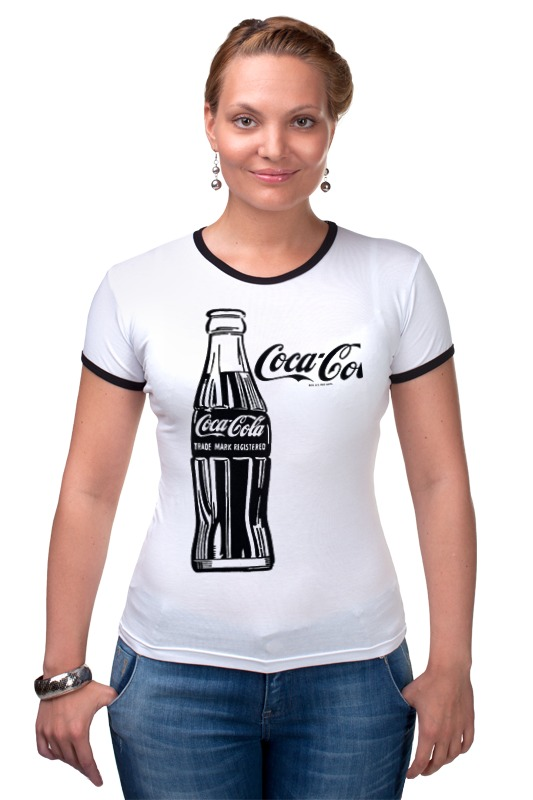Футболка Рингер Printio Кока-кола (coca-cola) блок глюкоза конфеты кола 42г