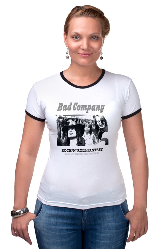Футболка Рингер Printio Группа bad company