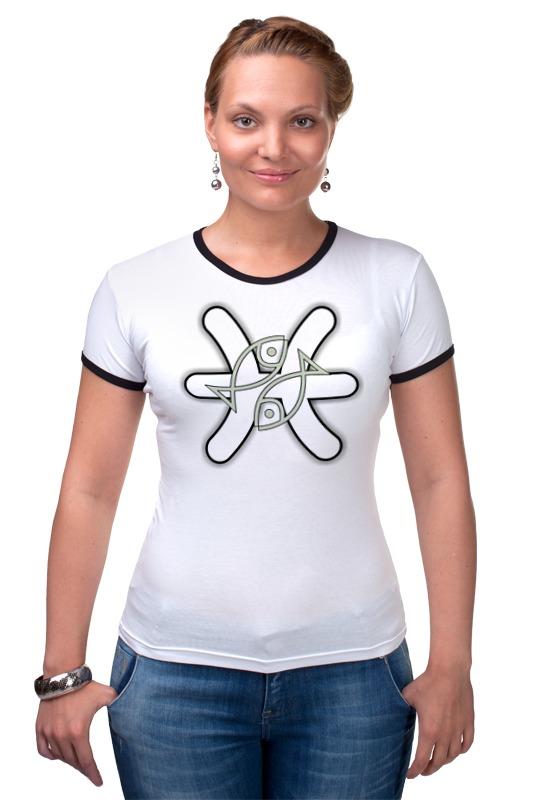 Футболка Рингер Printio Знак зодиака рыбы. футболка рингер printio знак зодиака телец