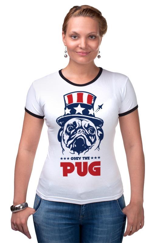 все цены на Футболка Рингер Printio Мопс президент (obey pug)