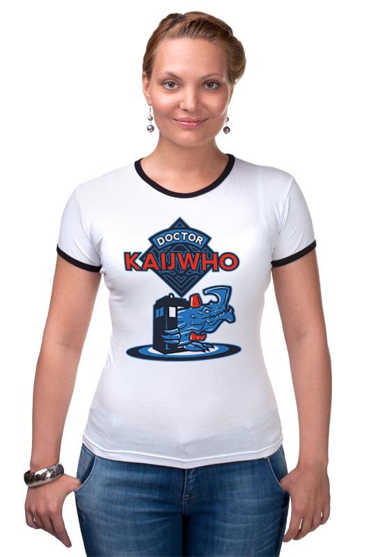 Футболка Рингер Printio Doctor who x kaiju майка классическая printio doctor who x kaiju
