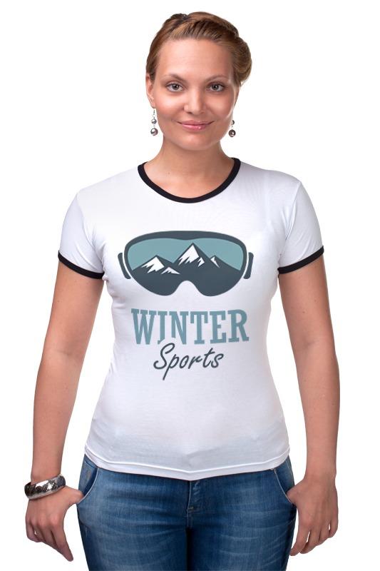 Футболка Рингер Printio Зимний спорт (winter sport)