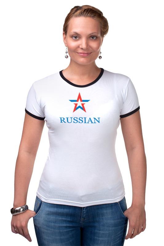 Футболка Рингер Printio Russian army russian phrase book