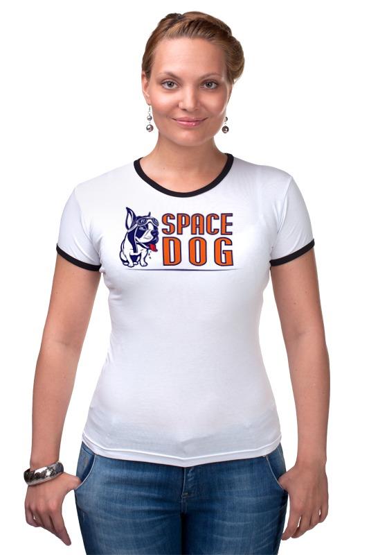 Футболка Рингер Printio Space dog сумка printio gta 5 dog