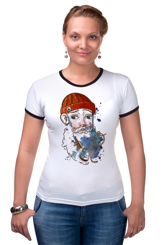 Футболка Рингер Printio Моряк футболка рингер printio моряк попай popeye the sailor
