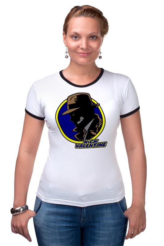 Футболка Рингер Printio Ник валентайн (фэллаут) футболка классическая printio fallout фэллаут
