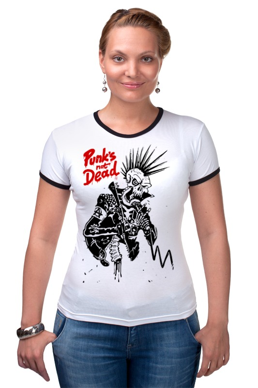 Футболка Рингер Printio Панки живы (punks not dead) not dead yet