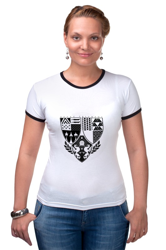 Футболка Рингер Printio Age of triumph (white) футболка для беременных printio age of triumph white