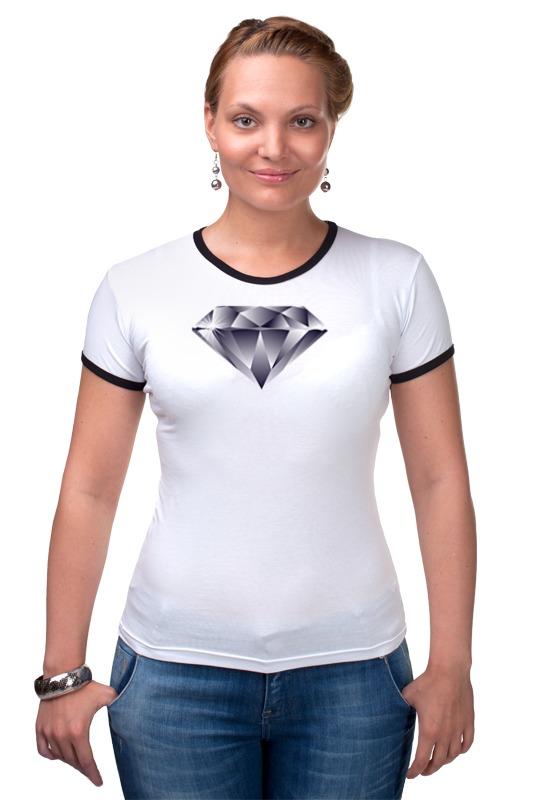 Футболка Рингер Printio Алмаз алмаз алмаз 1020