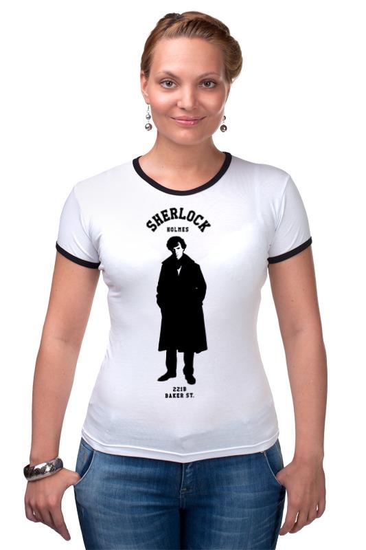 Футболка Рингер Printio Шерлок холмс (sherlock holmes) футболка для беременных printio шерлок холмс sherlock holmes
