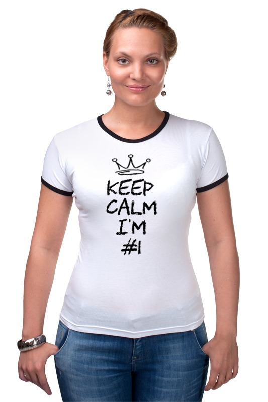 Футболка Рингер Printio Keep calm i am #1 футболка wearcraft premium printio keep calm i am 1 1