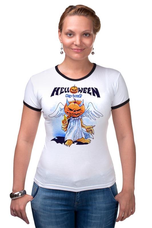 Футболка Рингер Printio Helloween ( rock band ) helloween madrid