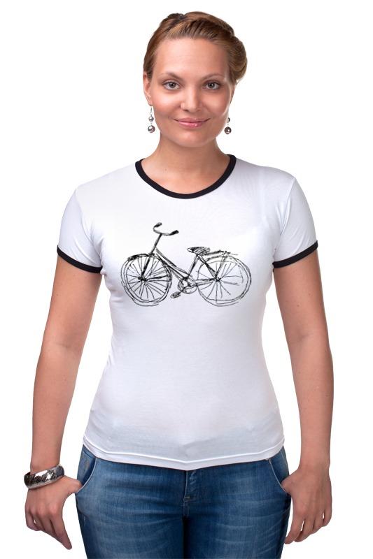 Футболка Рингер Printio Велосипед велосипед
