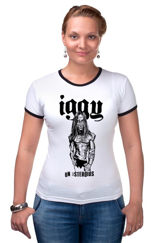 Футболка Рингер Printio Iggy on asteroids iggy pop iggy pop the idiot