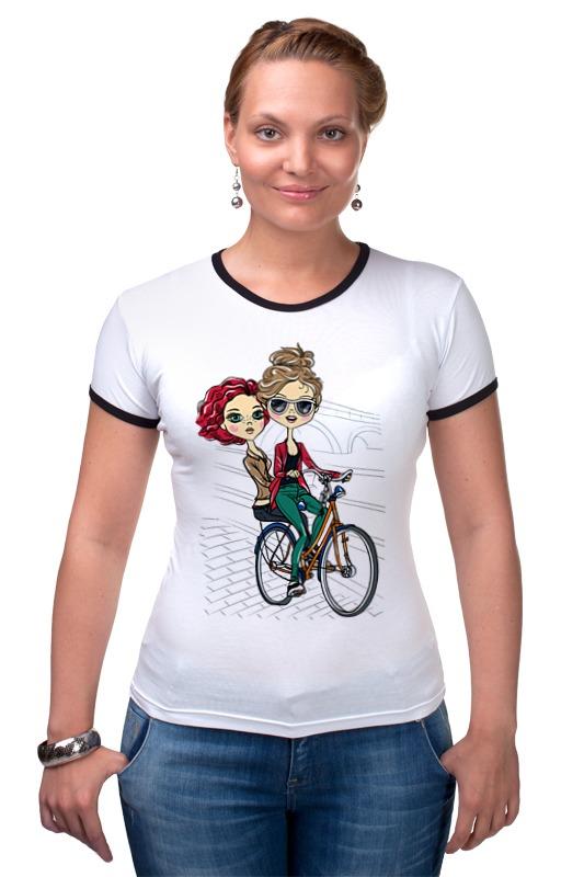 Футболка Рингер Printio Велосипедистки printio футболка рингер