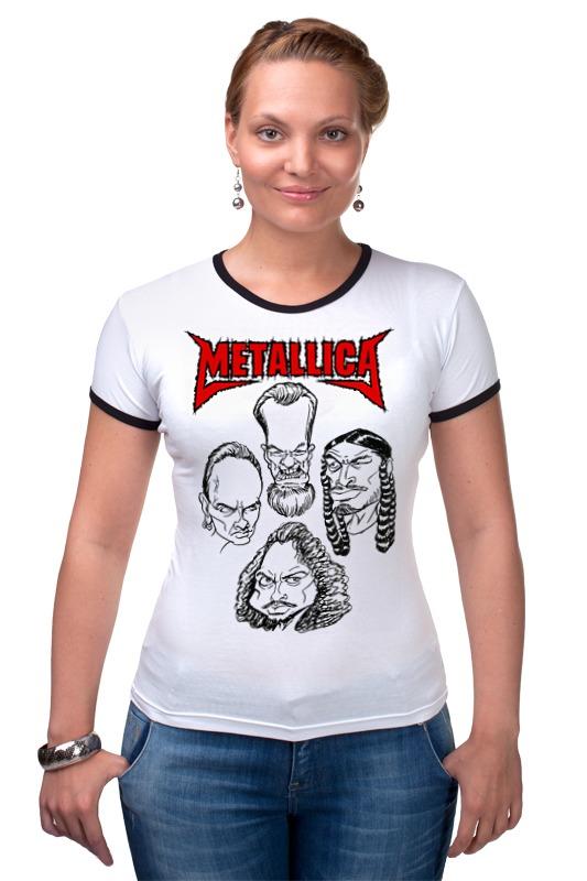 Футболка Рингер Printio Metallica
