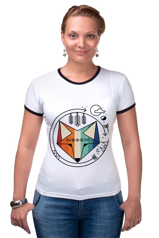 Футболка Рингер Printio Геометрический лис футболка рингер printio лис лис
