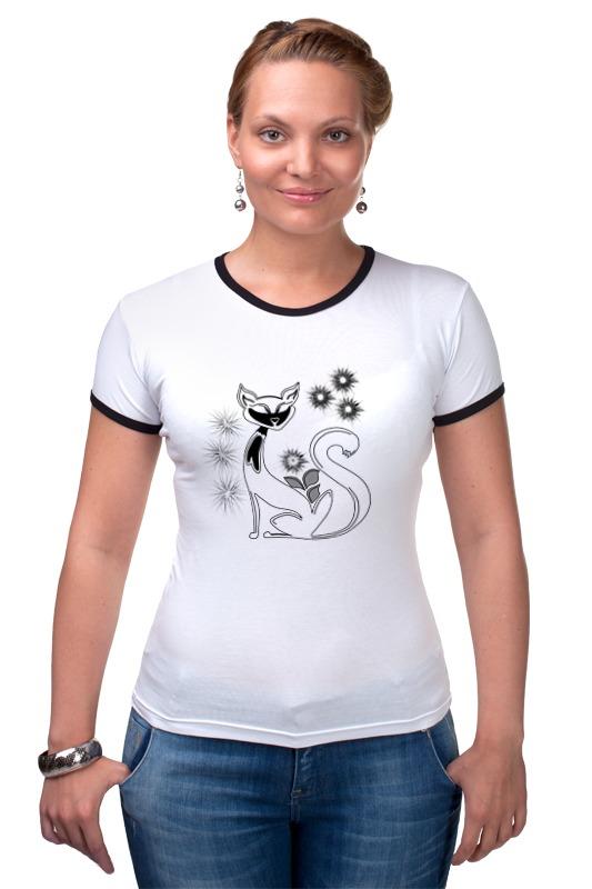 Футболка Рингер Printio Кошка футболка белая кошка мелисса lisa