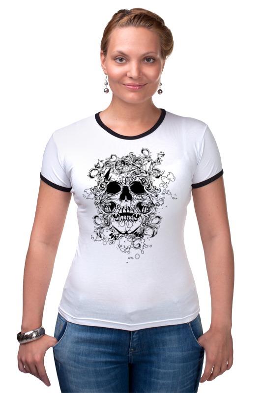 Футболка Рингер Printio Череп (орнамент) футболка рингер printio череп