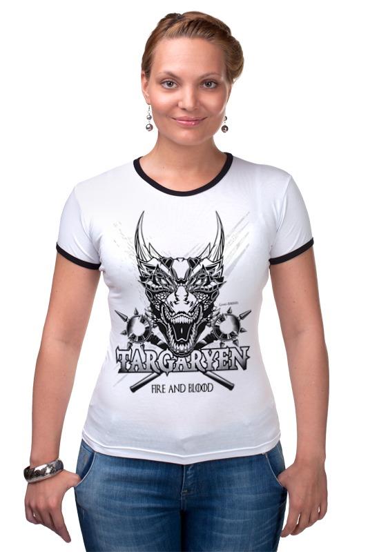 Футболка Рингер Printio Дракон таргариенов (игра престолов) футболка wearcraft premium printio игра престолов