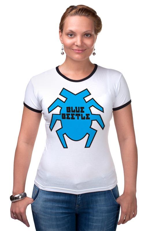 Футболка Рингер Printio Синий жук футболка стрэйч printio вольскваген жук