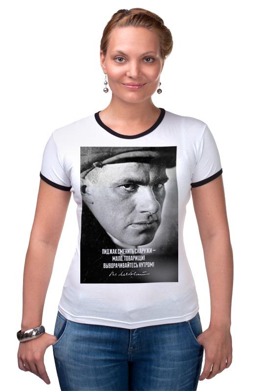 Футболка Рингер Printio Маяковский футболка рингер printio владимир маяковский
