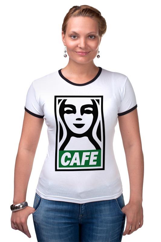Футболка Рингер Printio Starbucks (obey) футболка рингер printio belles book cafe starbucks