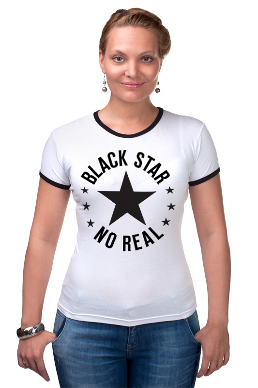 Футболка Рингер Printio Black star футболка рингер printio война никогда не меняется