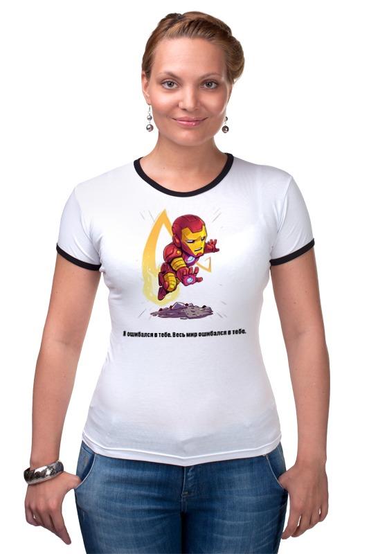Футболка Рингер Printio Железный человек футболка для беременных printio я покажу тебе мир