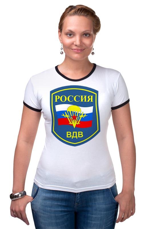 Футболка Рингер Printio Воздушно-десантные войска