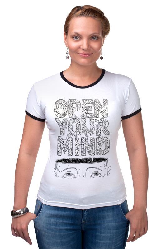 Футболка Рингер Printio Open your mind книга open mind beginner student