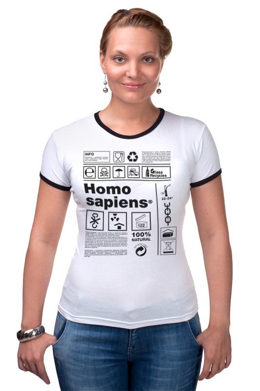 Футболка Рингер Printio Homo sapiens homo intellectus