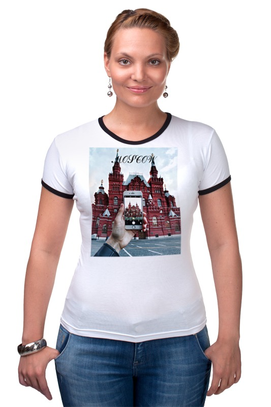 Футболка Рингер Printio Любимая москва литературная москва 100 лет назад