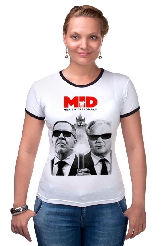 Футболка Рингер Printio Mid - men in diplomacy футболка классическая printio men in diplomacy