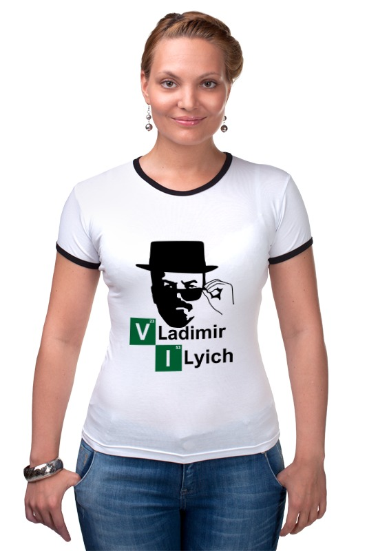 Футболка Рингер Printio Владимир ильич как продать вещи в ильич вске