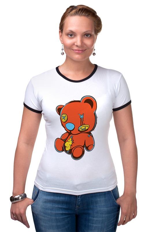 Футболка Рингер Printio Dead teddy bear футболка стрэйч printio dead teddy bear